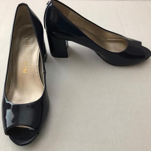d088a641b86 Anne Klein Shoes - Women s Classy Anne Klein MEGAN Navy Peep Toe Pump